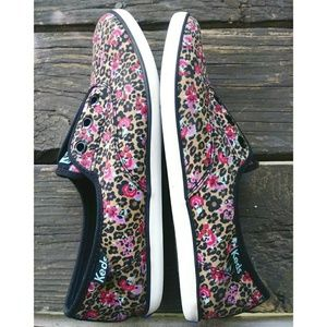 Keds Rookie Animal and Floral Print Sneaker Size 8